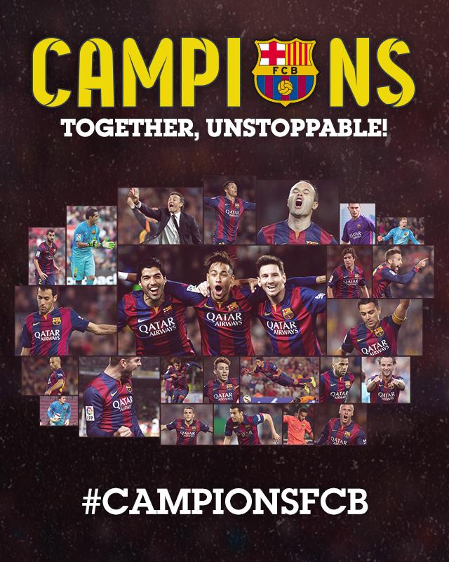 #CampionsFCB